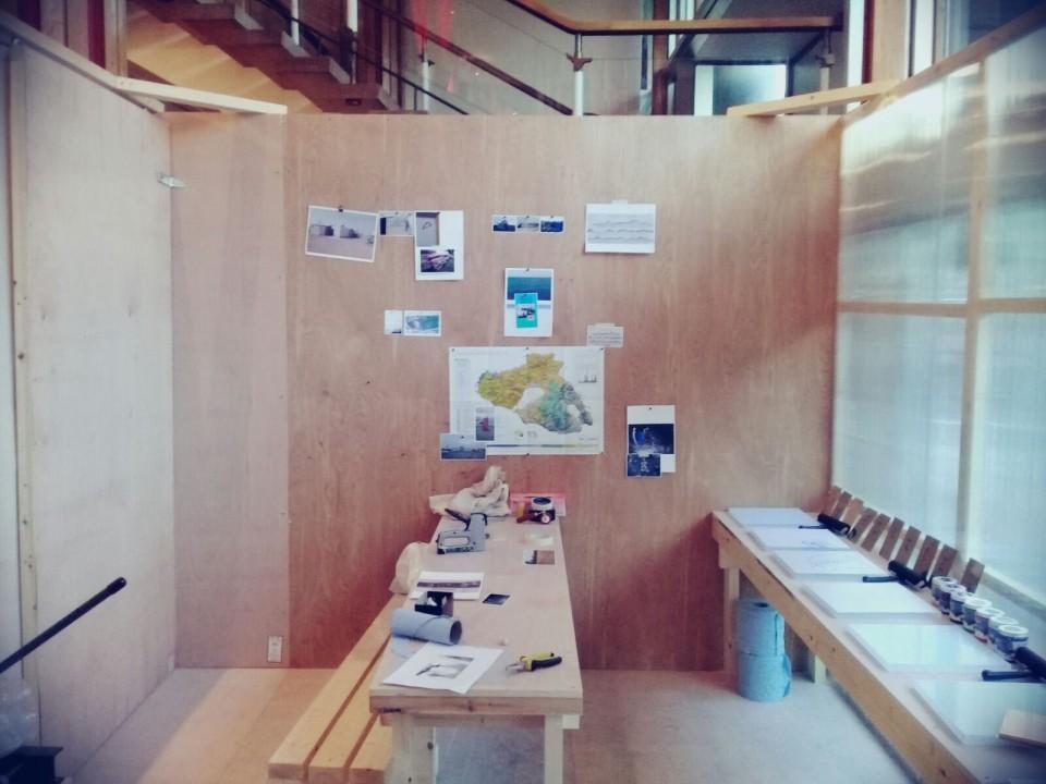 Design and build of a temporary print studio